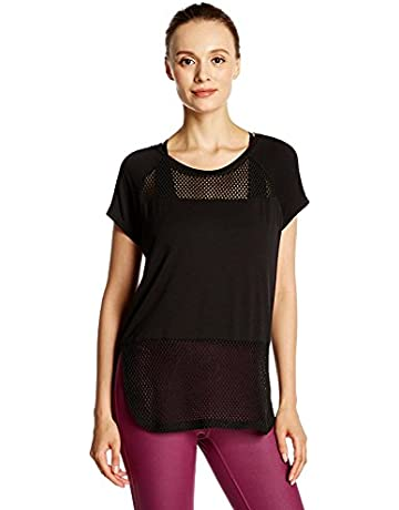 09c35896aec Women s Short-Sleeve Mesh Workout Top Loose Tee T-Shirt Pullover