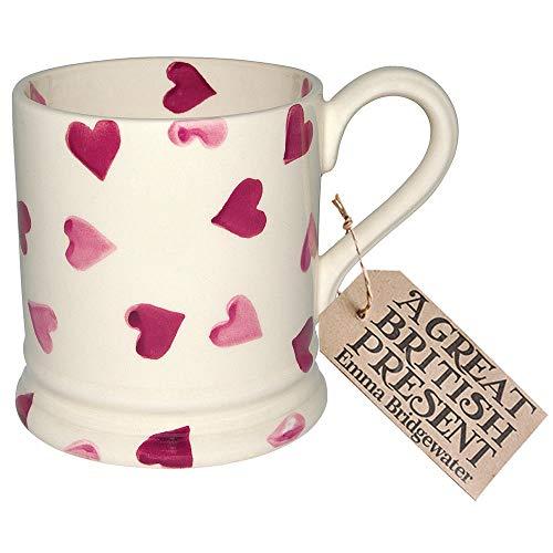 EMMA BRIDGEWATER POTTERY NEW HALF PINT MUG - Pink Hearts