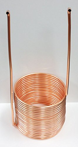 Quick Chill Home Brew Copper Immersion Wort Chiller, 50' X 3/8''