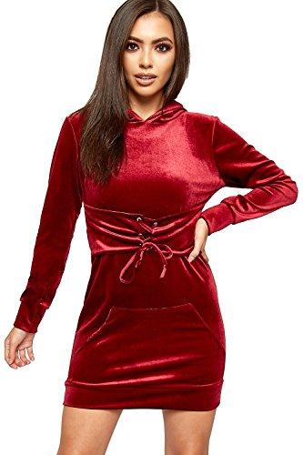 Velour Hooded Dress - 6