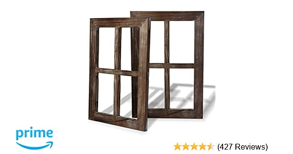 Amazon.com: Cade Rustic Wall Decor Window Barnwood Frames  Decoration For  Home Or Outdoor (2, 11X15.8 Inch): Home U0026 Kitchen