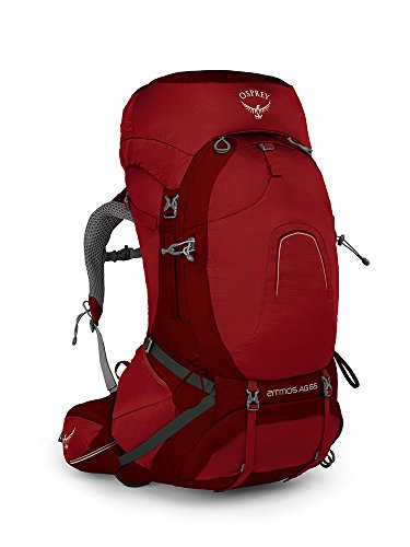 Osprey Packs Osprey Pack Atmos Ag 65 Backpack, Rigby Red, Medium