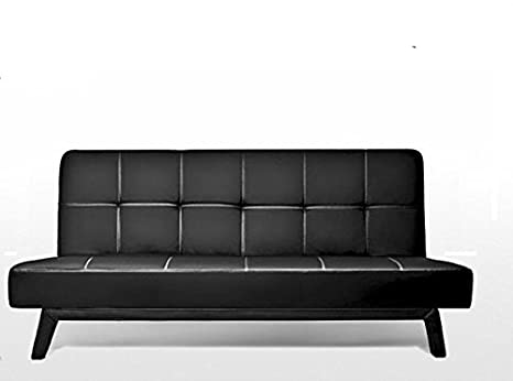 Divano Nero Moderno : Divano letto cm ecopelle posti reclinabile nero design