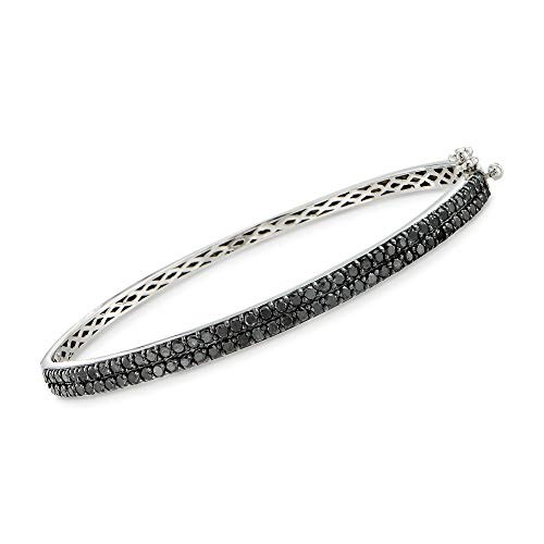 - Ross-Simons 2.00 ct. t.w. Black Diamond Bangle Bracelet in Sterling Silver