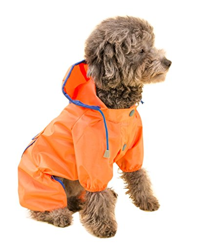 Topsung Dog Raincoat Waterproof Puppy Jacket Pet Rainwear Clothes for Small Dogs/Cats ()