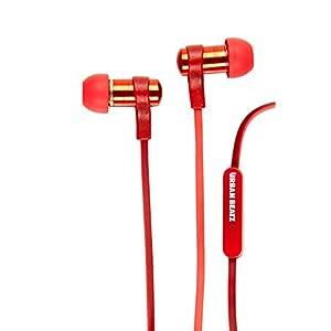 Urban Beatz Strike UB-EM400-60T Extra bass Red Metal earphones with Hands-free Microphone