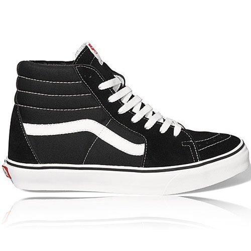 Vans SK8-Hi(tm) Core Classics, Black/White, Men's 12, Women's 13.5 - School Old Shoes Vans