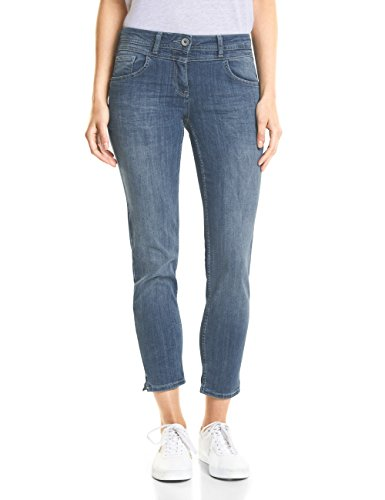Slim Mid Wash Used 10275 Jeans Blu Cecil authentic Donna Blue w5pP5qC