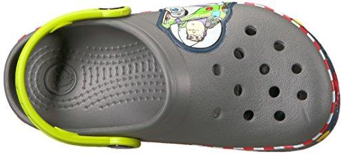 Crocs Crocs205003 Con Niños Gris Unisex Para Crocband Buzz Fl Niños Zuecos Luces Pizarra rrB16w