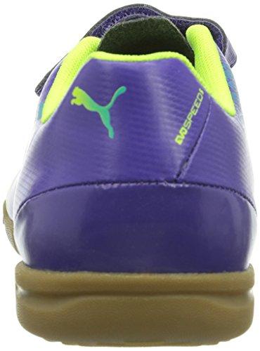 Puma evoSPEED 5.3 IT V Jr Unisex-Kinder Hallenschuhe Violett (prism violet-fluro yellow-scuba blue 01)