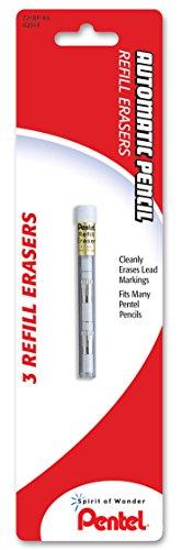 - Pentel Mechanical Pencil Eraser Refills, Z21, 3/Tube, PK - PENZ21