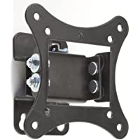 Displays2go MNTB011, Black Tilting LCD TV Wall Mount Bracket, VESA Compatible for 75x75 and 100x100, Fits 10 to 24 Inches Monitors (Black)