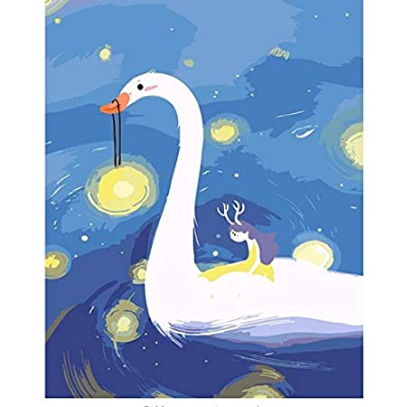 Dormitorio de los niños Decoración Cisne Anime Cartel Blanco ...