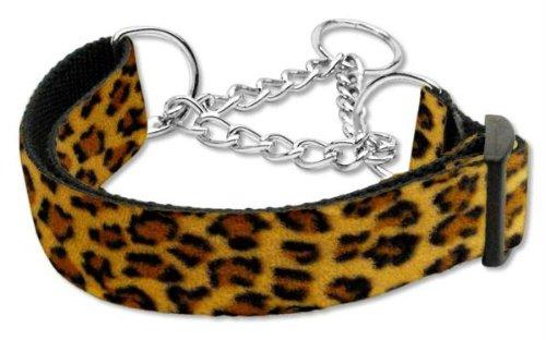 Mirage Pet Products Martingale Animal Print Nylon Collars, Medium, Leopard