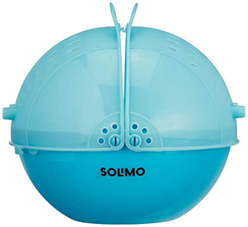 Amazon Brand – Solimo Plastic Drainer/Colander with lid (Blue)