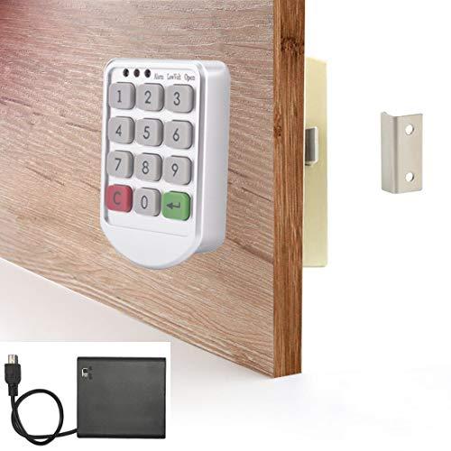 Electronic Cabinet Lock Kit - Digital Keypad Locker Lock with Password Entry - Keyless Cabinet Door Lock - External Power Box Included for Free