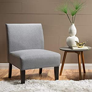 Christopher Knight Home Kassi Fabric Accent Chair, Grey