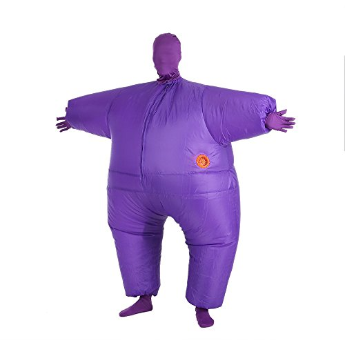 Anself Funny Inflatable Full Body Costume Suit Blow Up Halloween Party Fat Inflatable Jumpsuit Costume (Blow Up Costumes Halloween)