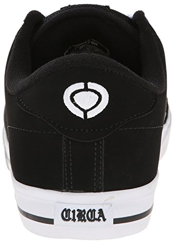 C1RCA Men's AL50 Skate Shoe, Black/White, 12 M US