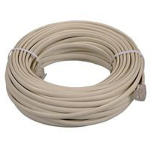 6' Cable Beige Usb (OEM 25 feet Ivory Phone Telephone Extension Cord Cable Line Wire With Standard RJ-11 Plugs Jacks)