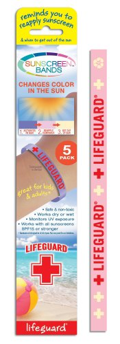 Sunscreen Bands Lifeguard, 5 Count