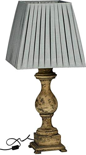 Lamp Dovetail Duke Hand-Woven Square Pleated Shade Traditional Shape Column Base