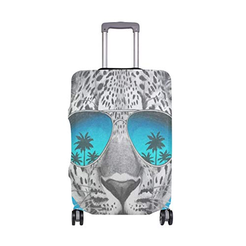veliz Leopardo con espejo anteojos de sol funda de equipaje funda de viaje bolsa protectora para niños niñas,...
