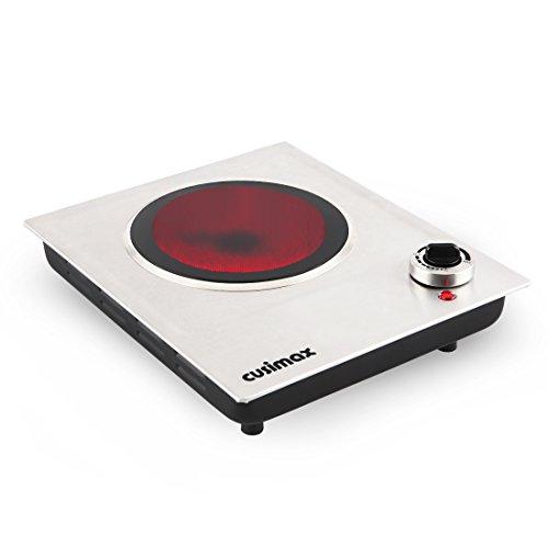 Cusimax CMIP-C120 Single Burner, Portable Ceramic Infrared Cooktop,Stainless Steel