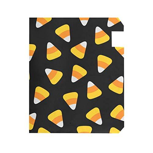 TaTaisu Magnetic Mailbox Covers and Wraps Custom Halloween Candy Corn Black Mail Box Cover Vinyl Home Garden Decor Standard Size ()