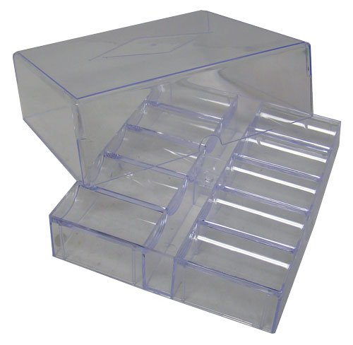 200 Chip Clear Acrylic Poker Chip Rack/tray with Cover by Poker