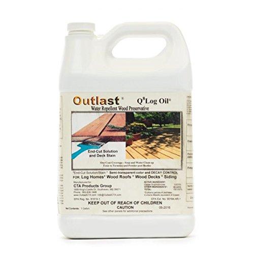Outlast Q8 Log Oil - Dark Brown - 1 Gallon Bucket