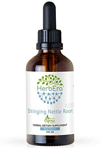 Stinging Nettle Root A120 Alcohol Herbal Extract Tincture, Super-Concentrated Organic Stinging Nettle Urtica Dioica Dried Root 4 fl oz