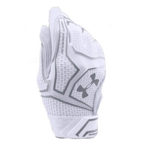 Under Armour Boys' ClutchFit Batting Gloves, White/White, Youth Small