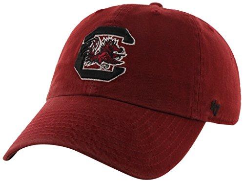 NCAA South Carolina Gamecocks '47 Brand Clean Up Adjustable Hat, Razor Red 1, One Size (South Carolina Gamecocks Hat)
