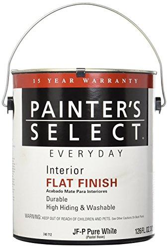 True Value JFP-GL Painter's Select Everyday Pastel Base Interior Flat Latex Wall Paint, 1-Gallon 1 Gallon Pastel Base