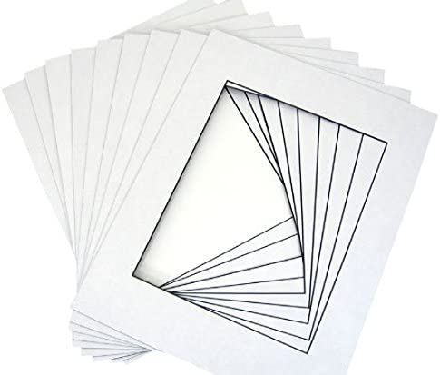 backings Fit 8x12 Set of 10-12x16 White Single Mats