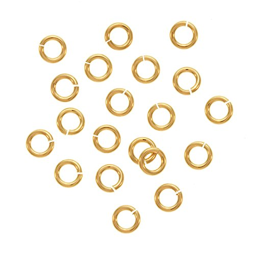 Beadaholique Gold Filled Jump Lock Jump Rings 4mm 20 Gauge 10