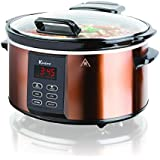Euro Cuisine SCX6 Electric Slow Cooker - 6 Qts - With Digital Display