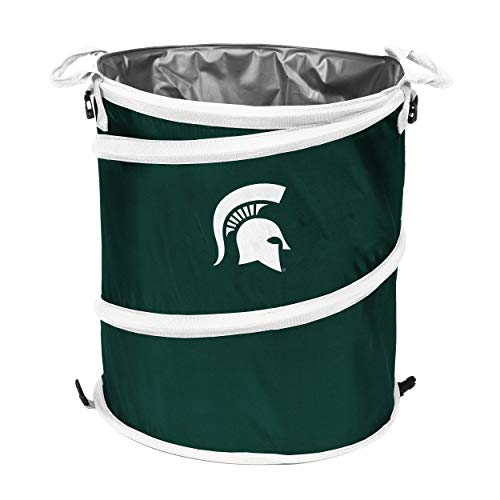 Michigan State Spartans Collapsible - NCAA Michigan State Spartans 3-n-1 Collapsible Trash Can, Green