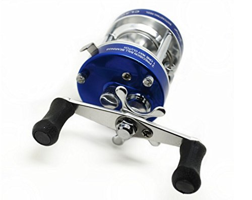 Mingyang CL30 Round Baitcasting Fishing Reels 2+1 BB Right handed Gear Ratio 5.0:1 Line Capacity 10/120 LB/YD Blue