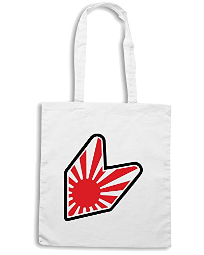 T-Shirtshock - Borsa Shopping TB0405 Rising Sun Soshinoya JDM Bianco
