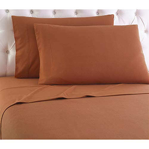 Shavel Home Products Micro Flannel Sheet Set Spice Twin