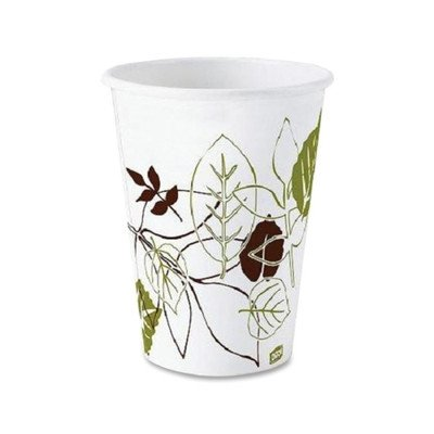 Dixie 2338SAGE 8 oz PerfecTouch Mira-Glaze Paper Hot Cup with Sage Design (20 Packs of 50)
