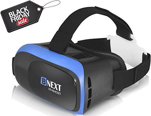 VR Headset Virtual Reality Glasses for iPhone & Android - Play Your Best Mobile Games & 360 Movies With Soft & Comfortable New 3D Goggles Plus Special Adjustable Eye Care System Technology