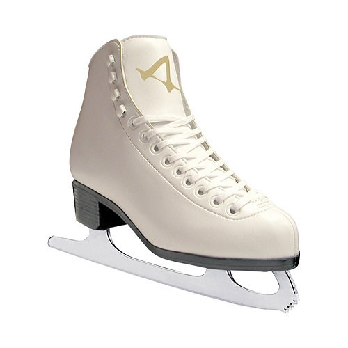 American Athletic Shoe Womens Leather Lined Ice Skates, White, 7