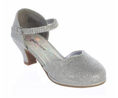 Gwen & Zoe GZ5502 High Heel Shoe w/Rhinestone Strap (3, Silver)]()