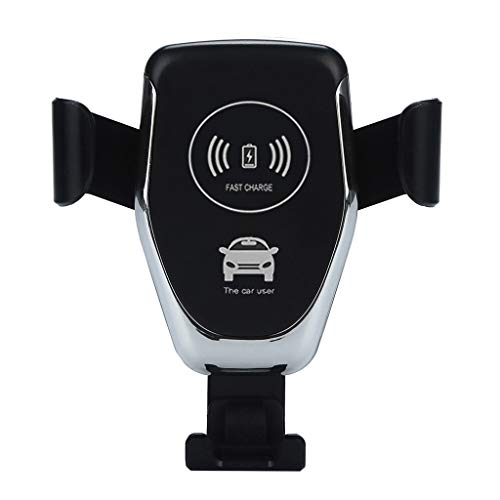 - Ranoff Qi Protocol Wireless Charger Dock Car Holder Charging Mount Pad for Samsung S10/S10Plus Car Wireless Charger (Black)