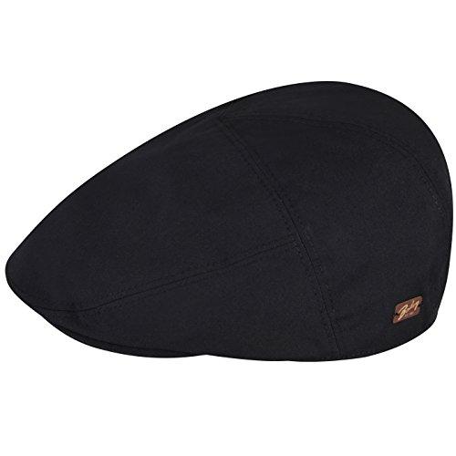 Bailey of Hollywood Men's Graham Paneled Flat Ivy RAIN Cap, Black, XXL ()