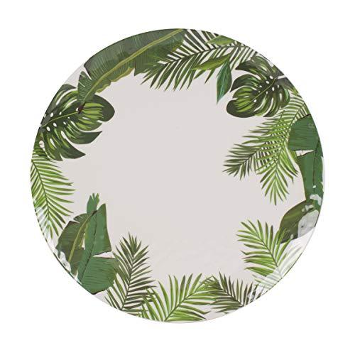 Fitz and Floyd 5247287 Tropical Fun Melamine Leaf Round Platter 15-inch Assorted - Leaf Round Platter