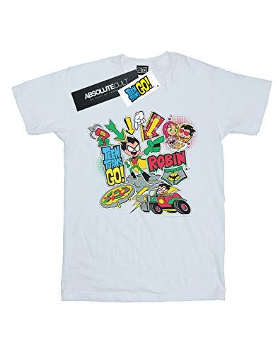 Go T Titans Blanc Teen Homme Robin shirt Dc Montage Comics 6qwfCnIF
